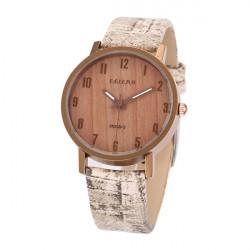 Feifan M069-3 Vintage Wood Grain Vandtæt Quartz Ur