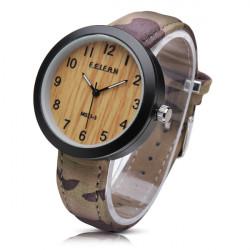 Feifan M0Z1 3 Holzmaserung Tarnung PU Band wasserdichte Uhr