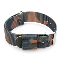 Fashion 20mm Multi-color Nylon Stainless Steel Buckle Watch Band