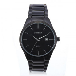 Mode CURREN 8106 Schwarz Edelstahl Runde Männer Quarz Armbanduhr