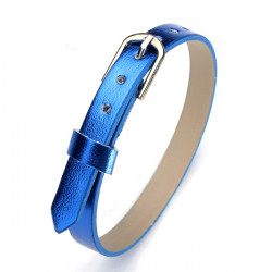 Fashion DIY 8mm Multi-color Smooth PU Leather Watch Band