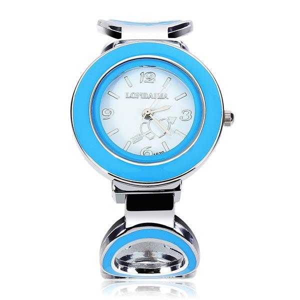 Fashion Heart Arrow Bangle Alloy Bracelet Women Quartz Wrist Watch Watch