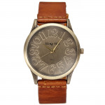Art und Weise Retro  runden Zifferblatt Lederband Quarz Armbanduhr 4 Farben Uhren