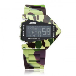 Mode Rubber Militärarmee Mann Sport Quarz Digitaluhr