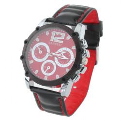 Mode SANEESI Leder Pen große Zifferblatt Männer Quarz Armbanduhr