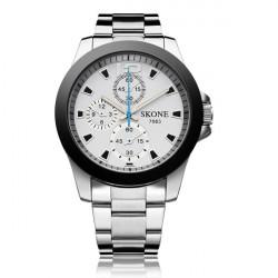 Mode SKONE 7063 Rostfritt Stål 3 Urtavla Herr Quartz Armbandsur