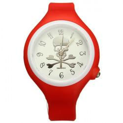 Mode Schädel Man Frauen Silikon Sport Süßigkeit Quarz Armbanduhr