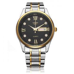Arbeiten Sie Edelstahl Roman Kristall Mann Quarz Armbanduhr