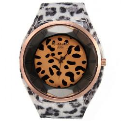 Fashion Women Sexy Leopard Brilliant Crystal Fur Big Wrist Watch