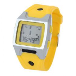 Fashion Yellow Square Rubber Waterproof Men Women Digital Quartz Watch