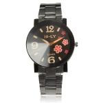 Blume Anzahl Männer, die Frauen analoge Quarz Armbanduhr Alloy Uhren
