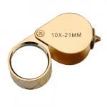 Goldene 10X 21mm Juwelier Lupen Vergrößerungsglas Lupe Uhrenwerkzeug