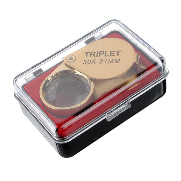 Golden 30 X 21mm Juvelerare Lupp Förstoringsglas Eye Glass Förstoring Ny Urmakeriverktyg