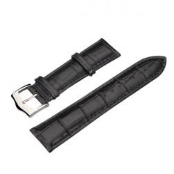 High Quality PU Leather Black Men Women Wrist Watch Band