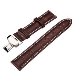 High Quality PU Leather Brown Men Women Wrist Watch Band