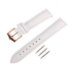 High Quality PU Leather White Men Women Wrist Watch Band