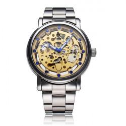 IK 98228G mechanische Mann Silber Gold Skeleton Armbanduhr