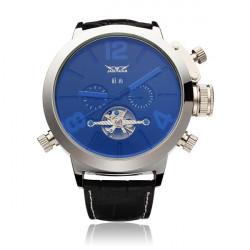 JARAGAR automatische mechanische Art und Weise Schwungrad Mann Armbanduhr