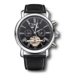 JARAGAR Luxury Skeleton Automatic Mechanical Leather Men Wrist Watch Watch