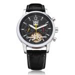 JARAGAR mechanische automatische Tourbillon 3 Zifferblatt schwarz Mann Uhr Uhren
