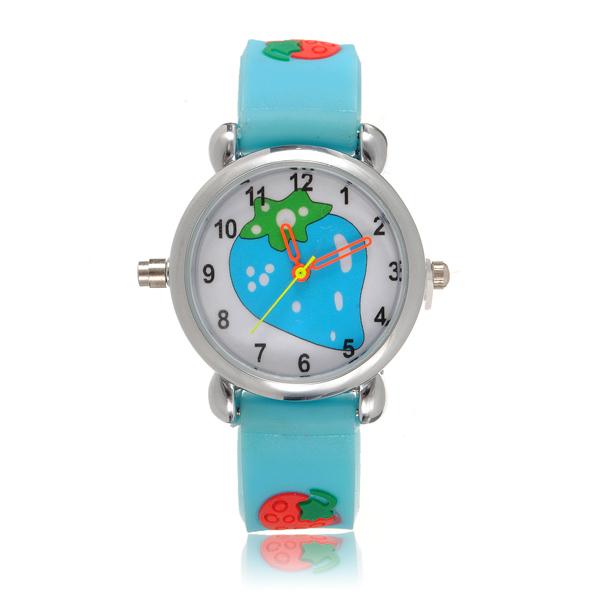Kid Strawberry LED Licht Armbanduhr zufällige Farbe Uhren