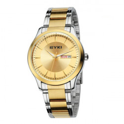 Korea EYKI 8598 Gold Silber Edelstahl Mann Quarz Armbanduhr