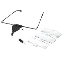 LED 1.5X 2.5X 3.5X Leselupe Brillen Vergrößerungs Linse Rahmen