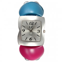 Damen Hisui Art Silber Perlen elastisches Armband Armband Uhr