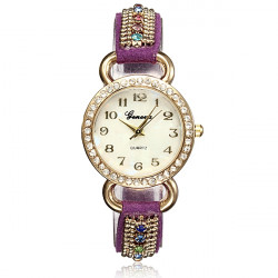 Lady Bling Crystal Band Quartz Klocka Dam Armbandsur