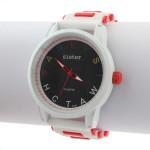 Brev Gummi Stor Urtavla Silikon Dam Quartz Armbandsur Klockor