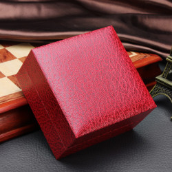 Lichee Pattern Square Hard Cardboard Paper Jewelry  Wrist Watch Box