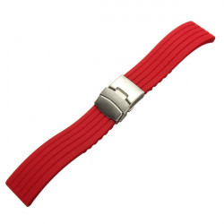 Mand Silikone Deployment Replacement Clasp Watch Strap Band