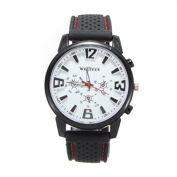Man Military Pilot Aviator Army Silicone Sports Quartz Wrist Watch Watch