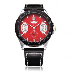 Men Military Luxury Automatic Mechanical Three Date Watch