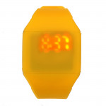 Herr Dam Casual Silikon LED Pekskärm Digital Armbandsur Klockor