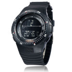 Men's Military Stopwatch Sport Data Digital Light Silicone Wrist Watch Watch