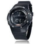 Herrenmilitär Stoppuhr Sport Daten Digital Light Silikon Armbanduhr Uhren