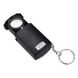 Mini Tasche 45X LED Lupe Mikroskop Glasobjektiv Falten