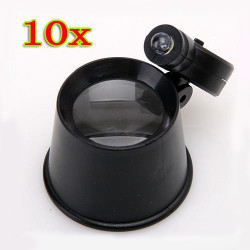 NEW 10x Jewelers Eye Loupe Magnifier with LED Light