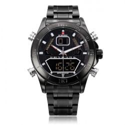 Naviforce NF9022 Militär Schwarz aufgenommen Dual Display Mann Armbanduhr
