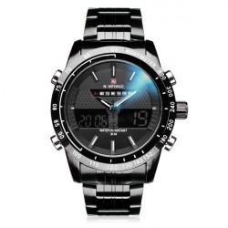 Naviforce NF9024 Militär Dual Display Vecka Datum Herr Armbandsur Klocka
