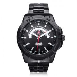 Naviforce NF9027 Militär Schwarz aufgenommen Week Edelstahl Mann Uhr
