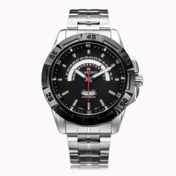 Naviforce NF9027 Militär Silber aufgenommen Week Edelstahl Mann Uhr