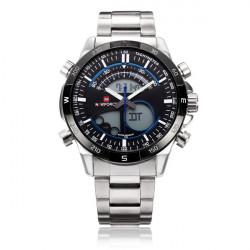 Naviforce NF9031 Dual Display Bakgrundsbelyst Vecka Datum Herr Armbandsur Klocka