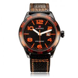 Naviforce NF9032 Militär PU Leder Nummer Datum Mann Armbanduhr