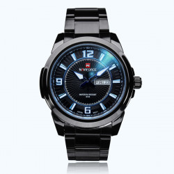 Naviforce NF9035 Schwarz Edelstahl Week Datum Mann Armbanduhr