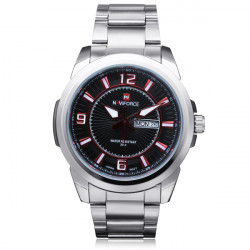 Naviforce NF9035M Number Stainless Steel Week Date Men Wrist Watch