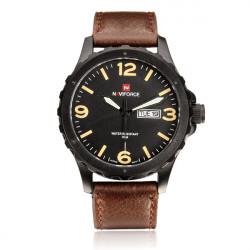 Naviforce NF9039M Militär PU Leder Week Datum Mann Armbanduhr