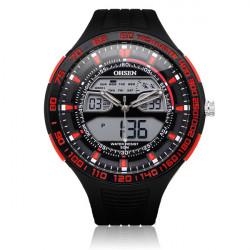 OHSEN AD2803 Sport Svart Militär Datum Vecka Herr Wrist Quartz Klocka