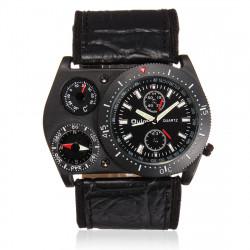 OULM Thermometer Kompass große Zifferblatt Multifunktions Männer Mode Uhr